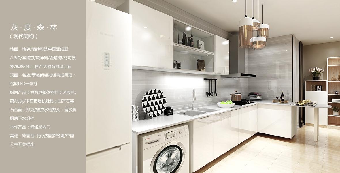 5系全案家装 灰度森林(现代简约)厨房