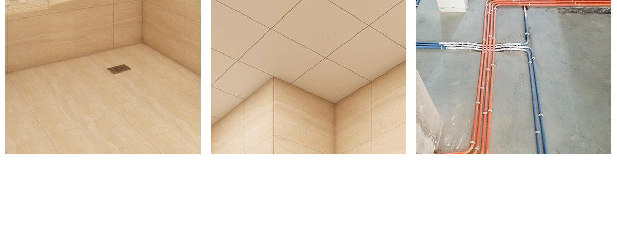 墙砖、 地砖通铺 吊顶通铺 水电管线