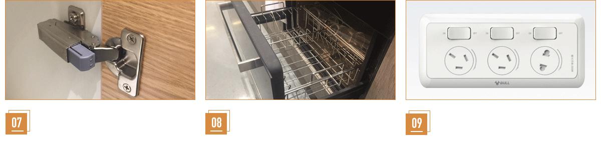 第九代blum环保阻尼铰链 品质拉篮/碗篮架 公牛厨房专用防油烟带开关插座