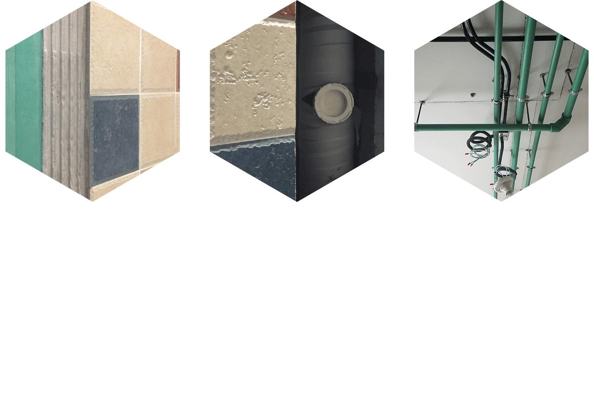 瓷砖薄贴法 包立管隔音降噪 水管横平竖直